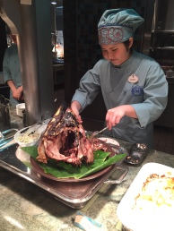 They a carver for the gigantic fish head at Oceano - the cheek meat is especially good