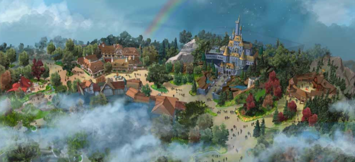 Artist rendering of the new Beauty and the Beast area in Fantasyland