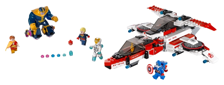 Lots of first appearance minifigures in this set including Thanos, Captain Marvel, and Hyperion