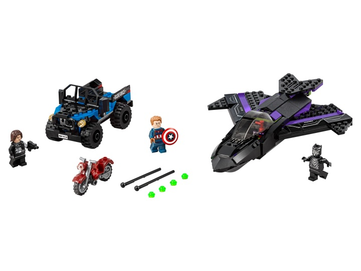Black Panther Pursuit is a pretty simple set and retails for $29.99. But if you're a hardcore minifigure collector, you have to get this first appearance of Black Panther