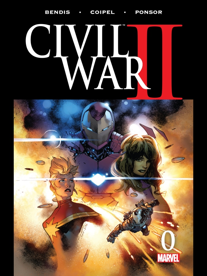 The cover to this year's Civil War #0 - great artwork and good writing but not much happens.  It's all just set up for the actual event