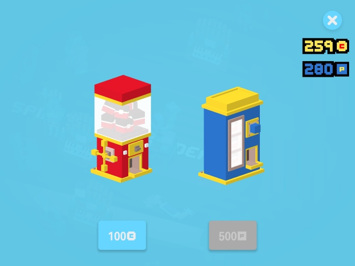 Every 100 coins you collect can be used in the machine on the left to get more characters.  The machine on the right uses special coins collected when you get a duplicate of a character you already have