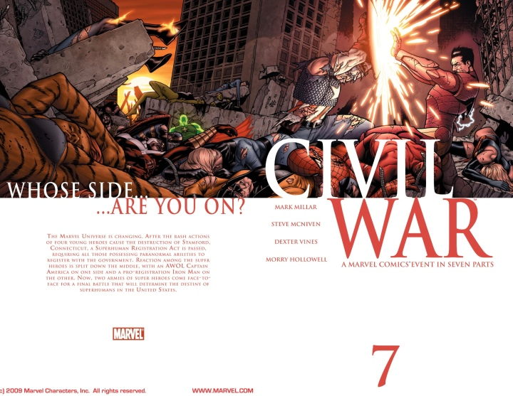 The full wrap-around cover to the conclusion of the first Civil War
