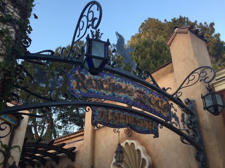 The sign above the entrance to Rancho del Zocalo in Frontierland