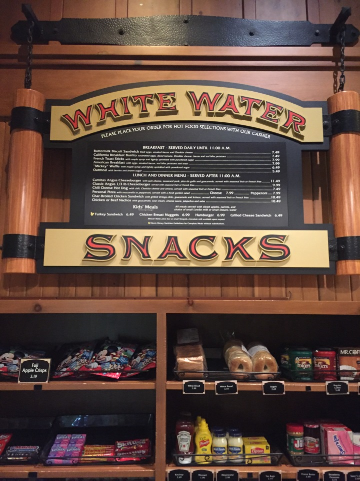 You can find all kinds of stuff at White Water Snacks