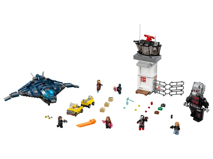 "The Super Hero Airport Battle set features the BIGGEST ""minifigure"" I've ever seen in Giant Man!"