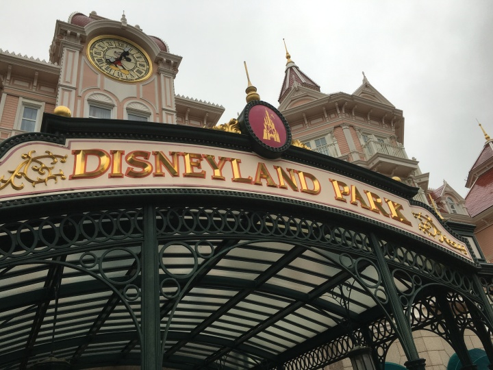 Getting ready to enter Disneyland Park in Paris!