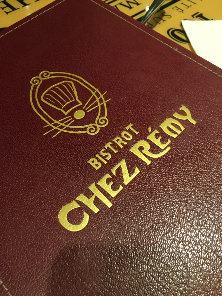 Bistrot Chez Remy menu - one of the few table service restaurants in both parks - and definitely advance reservations are important
