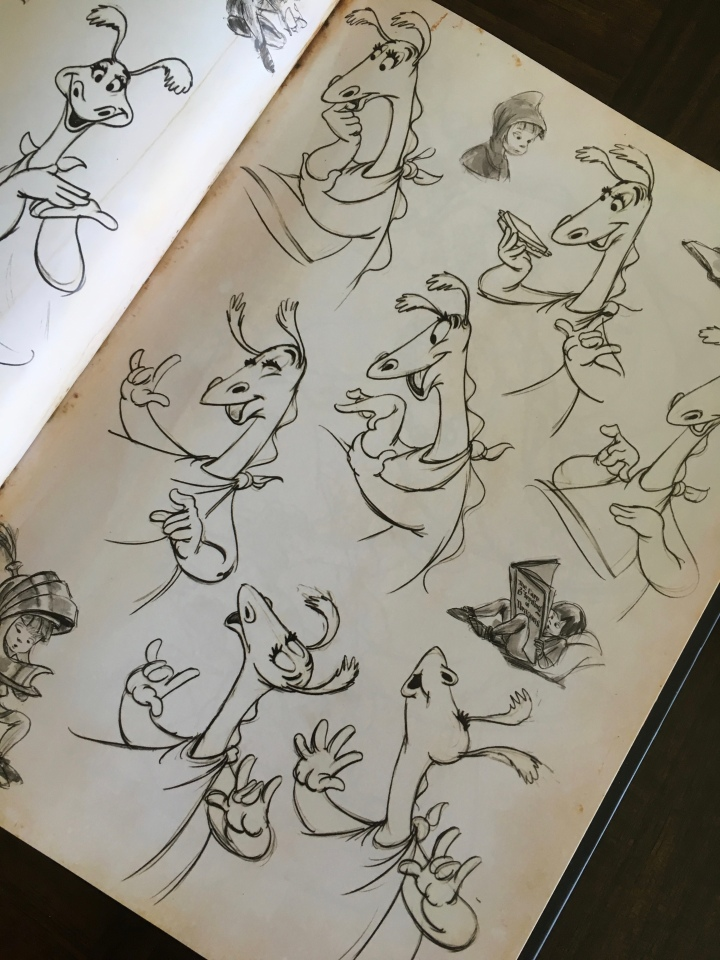 A classic and one of the first Disney dragons - the Reluctant Dragon