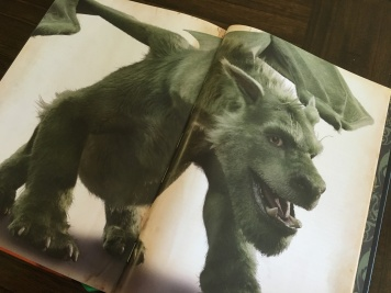 Character concept art - a dragon with fur! Close to the final image for Elliot in the new film