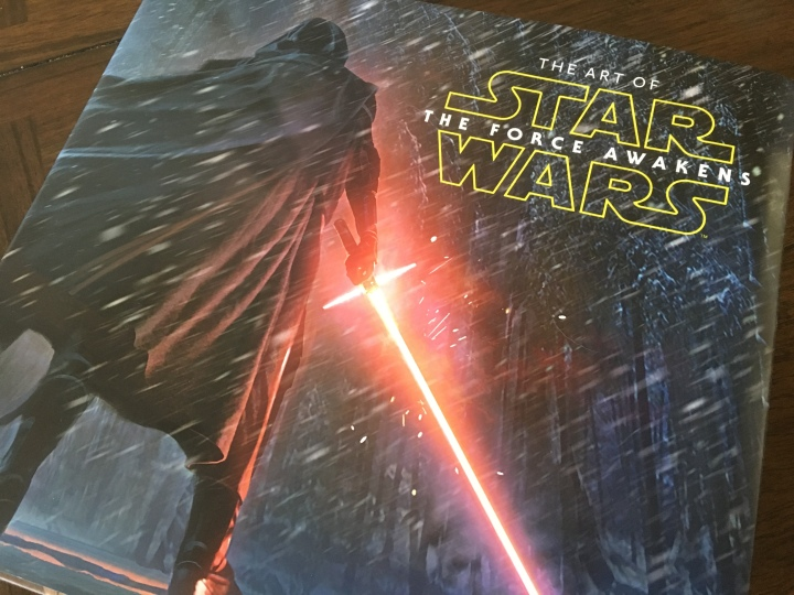 The cover to the amazingly detailed book The Art of Star Wars: The Force Awakens