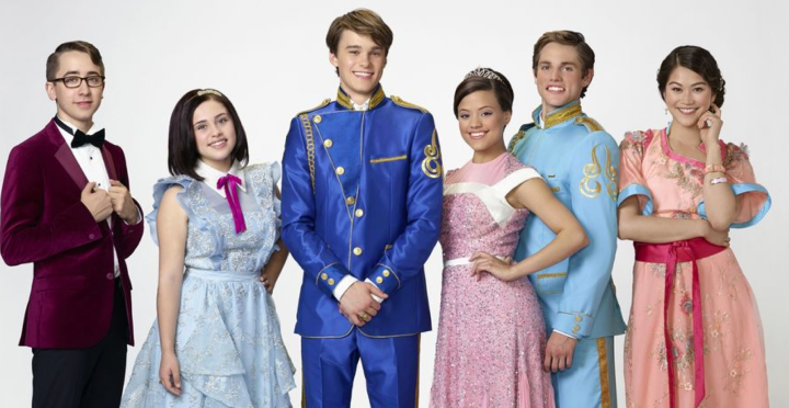 "DESCENDANTS – Disney Channel's original movie ""Descendants"" stars Zachary Gibson as Doug, Brenna D'Amico as Jane, Mitchell Hope as Ben, Sarah Jeffery as Audrey, Jedidiah Goodacre as Chad and Dianne Doan as Lonnie. (Disney Channel/Bob D'Amico)"