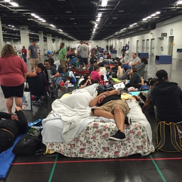 The lines the day before opening were so bad, people brought air mattresses in and slept on them. The spaces were pretty cramped considering how many of us there were