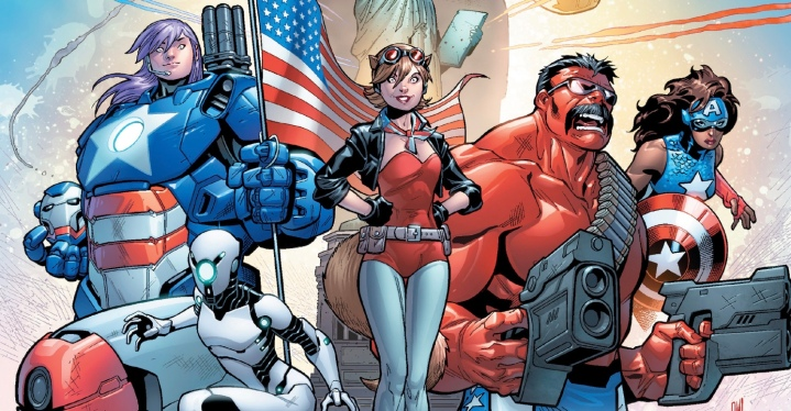 The U.S. Avengers turn out to be an American team dedicated to defending the country - so what's wrong with that? Ewing and Medina explore those nooks and crannies of the Marvel U with this series