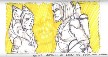 Helping out Bo-Katan on Mandalore (Dave Filoni art)