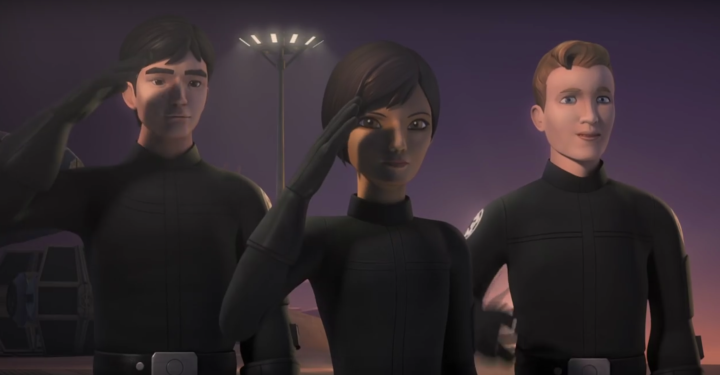 """""""This is TIE-SS25. You can call me Wedge."""" - Does Wedge Antilles join the Rebellion this season? Is that him as a young Imperial cadet defecting?"""