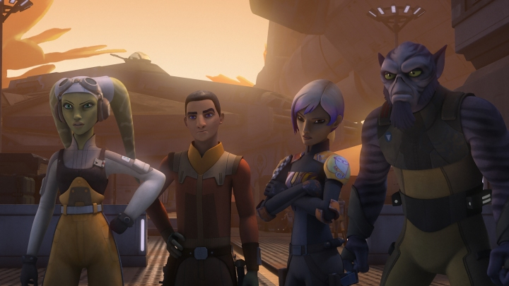 The crew of the Ghost minus Kanan