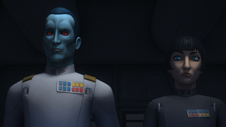 Thrawn enters into the Star Wars universe officially in Star Wars Rebels
