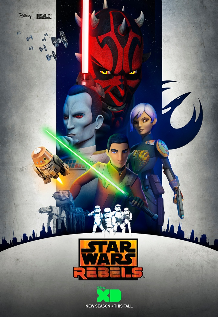 The preview art poster says it all - Thrawn, Maul, Sabine, and Ezra