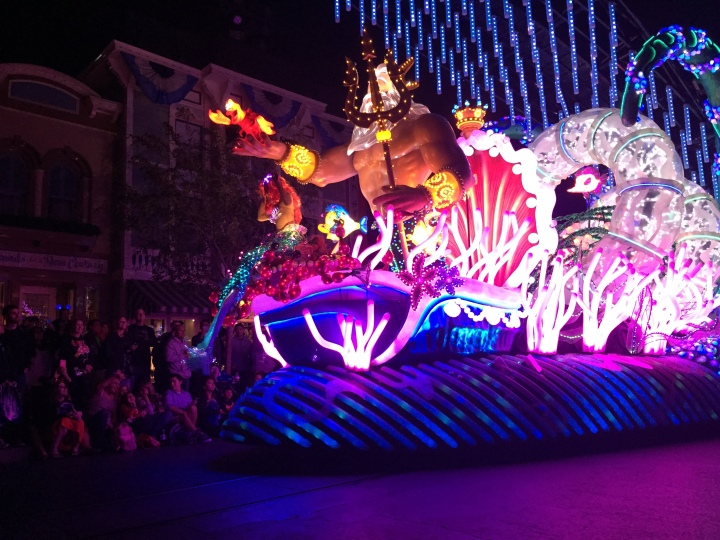 One of the beautiful floats from the Paint the Night parade, scheduled to close September 5th