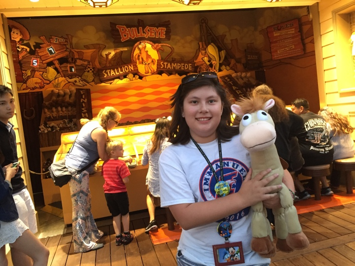 Winning Bullseye for my daughter Emma at Bullseye Stallion Stampede