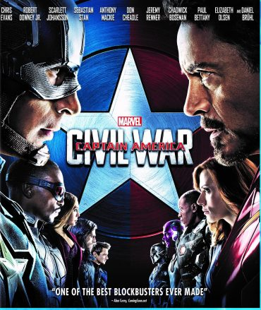 Civil War packaging for the standard Blu-Ray release