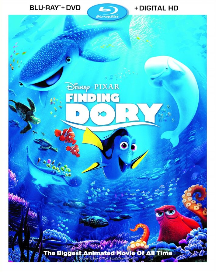 Finding Dory comes home on Oct 25th digitally and Nov 6 on Blu-Ray