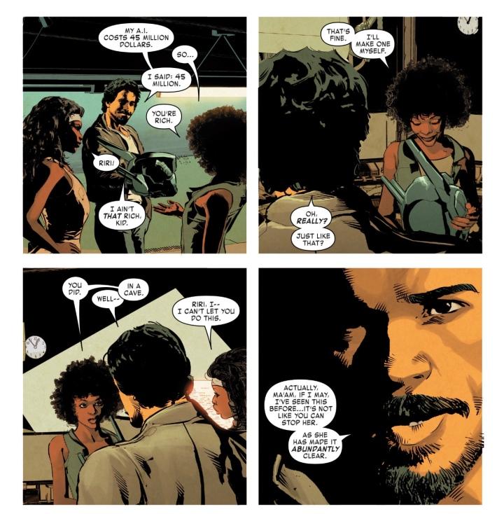 Riri Williams meets Tony Stark