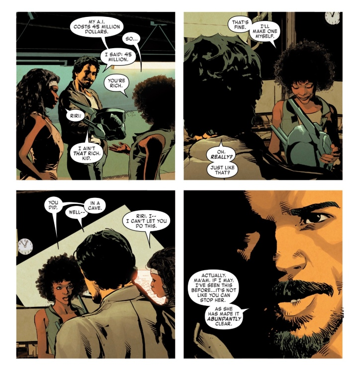 Riri Williams meets Tony Stark