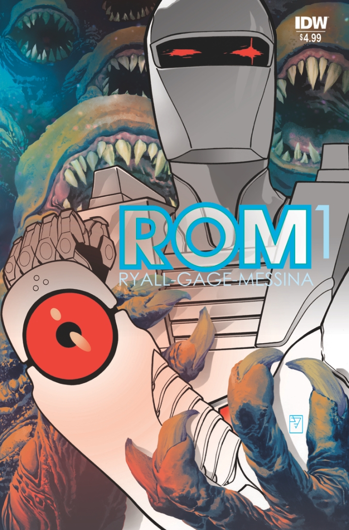Cover for Rom #1 - which will be relaunching after the shortest series ever