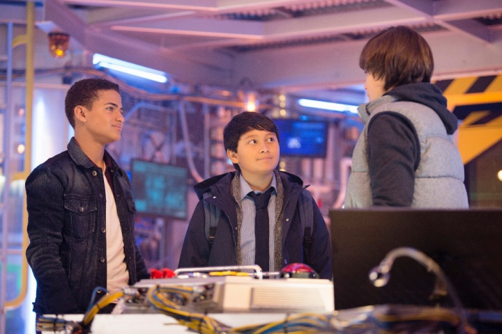 "MECH-X4 - ""Let's Call It Mech-X4!"" - Disney's new serialized live-action series ""MECH-X4"" follows a heroic team of four teenage boys who take on the responsibility of controlling a giant robot to protect their city, and ultimately the world.  ""MECH-X4"" will be presented in an expanded premiere weekend with four back-to-back episodes on Disney Channel, the Disney Channel App and Disney Channel VOD,  FRIDAY, NOVEMBER 11 through SUNDAY, NOVEMBER 13.  ""MECH-X4"" will also be presented on Disney XD and the Disney XD App, beginning MONDAY, DECEMBER 5. (Disney Channel/David Bukach) NATHANIEL JAMES POTVIN, KAMRAN LUCAS"
