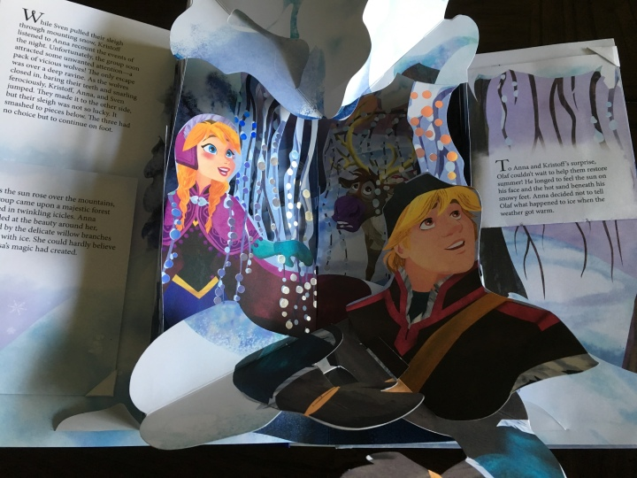 One of the beautiful interior sections of Frozen: A Pop-Up Adventure