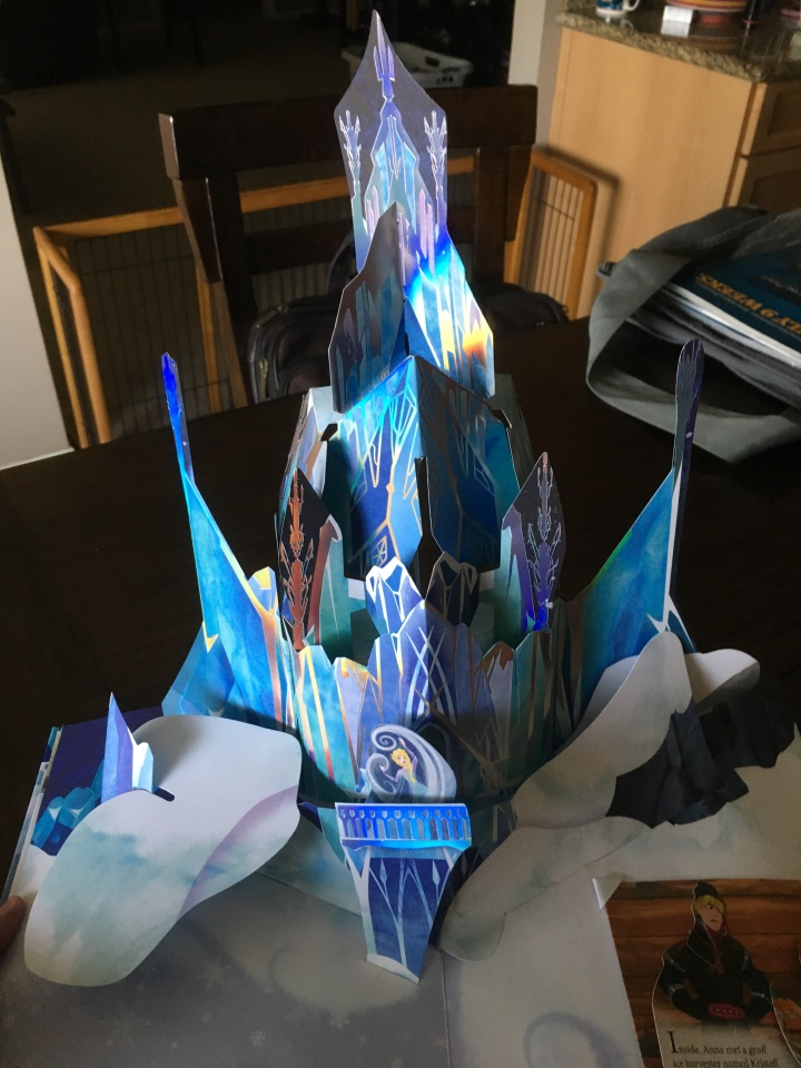 It's hard to believe that this gigantic castle pop-ups out of this book!