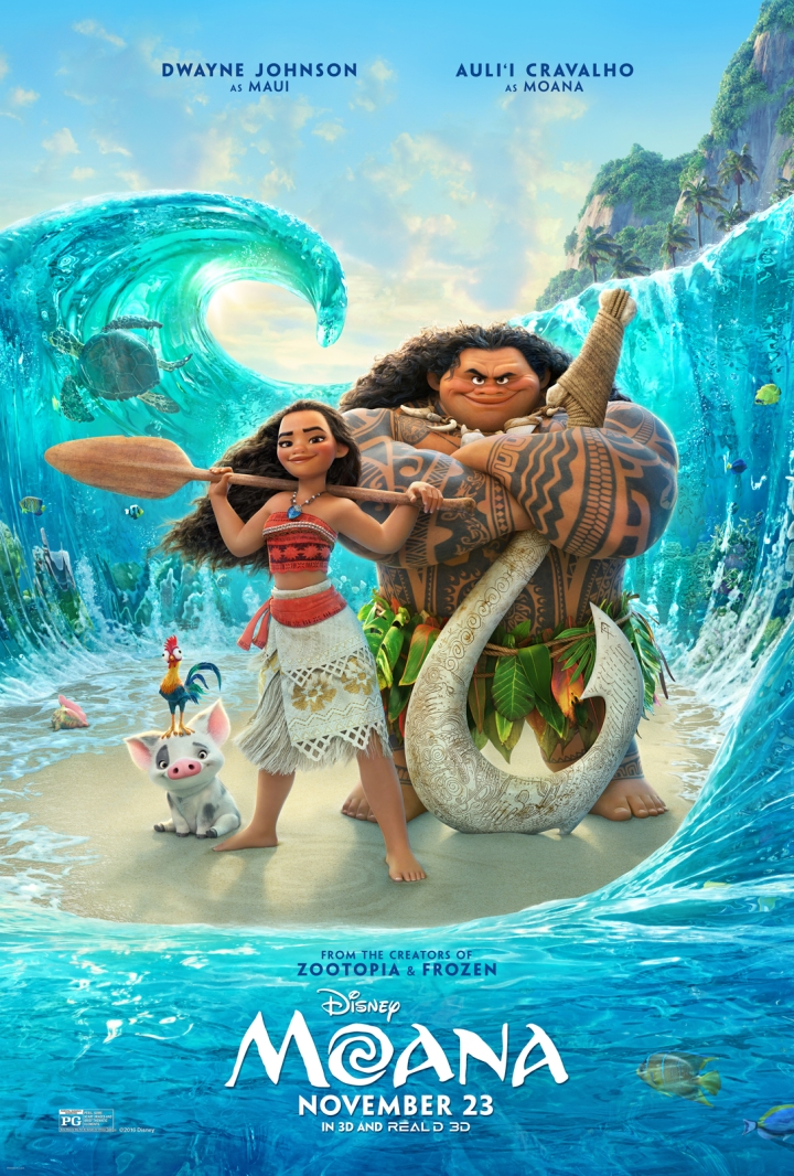 Moana starring Auli'i Cravalho and Dwayne Johnson in the Disney animated musical