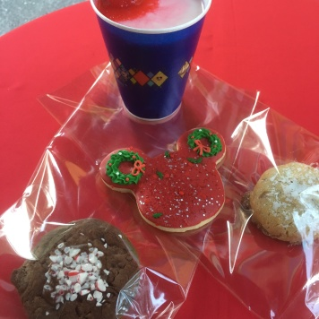 Selection of cookies from Treats for Santa, but the real winner was the White Hot Chocolate with Peppermint Marshmallows