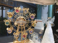 Beautiful gold plated Disneyland ferris wheel with crystal Mickeys