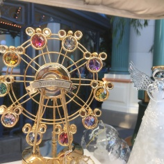 Beautiful gold plated Disneyland ferris wheel with crystal Mickeys