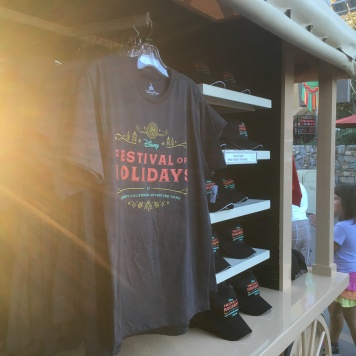 Shirts, caps, and other souvenirs from Festival of Holidays (2016)