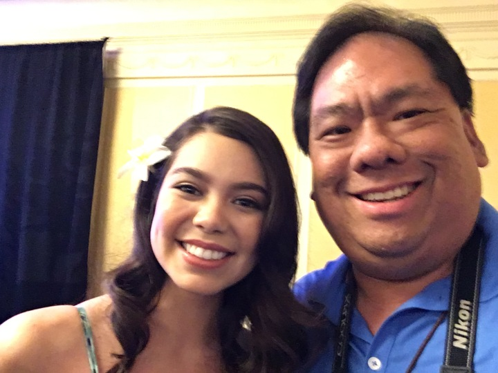 Selfie with the talented and beautiful Auli'i Cravalho