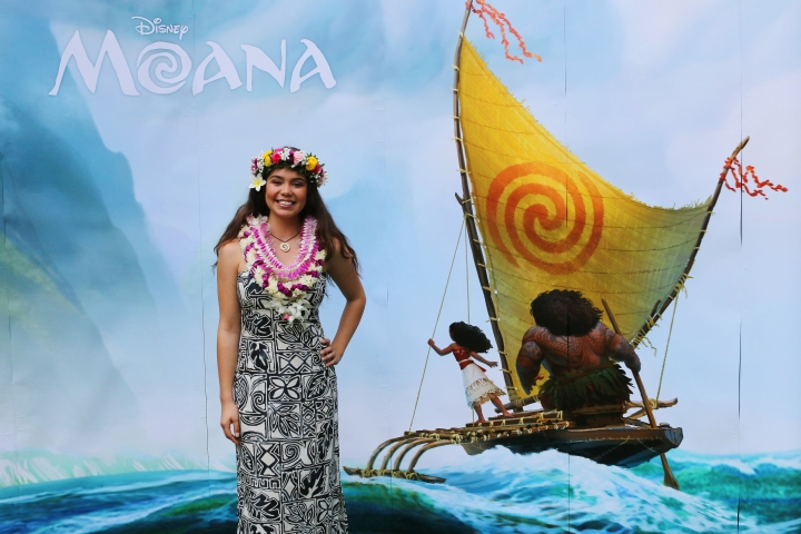 October 12, 2015 - Producer Osnat Shurer, Directors John Musker and Ron Clements and the voice of Moana, Auli'i Cravalho present at the MOANA Press Conference at the Aulani Resort and Spa in Ko Olina, Hawaii. Photo by Hugh E. Gentry. ©2015 Disney. All Rights Reserved.