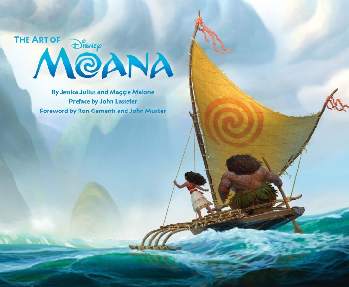 The cover of The Art of Moana