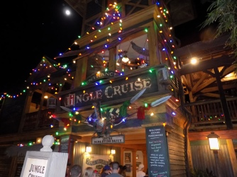 Jingle Cruise looks better on the outside at night, but the jokes are better in the day