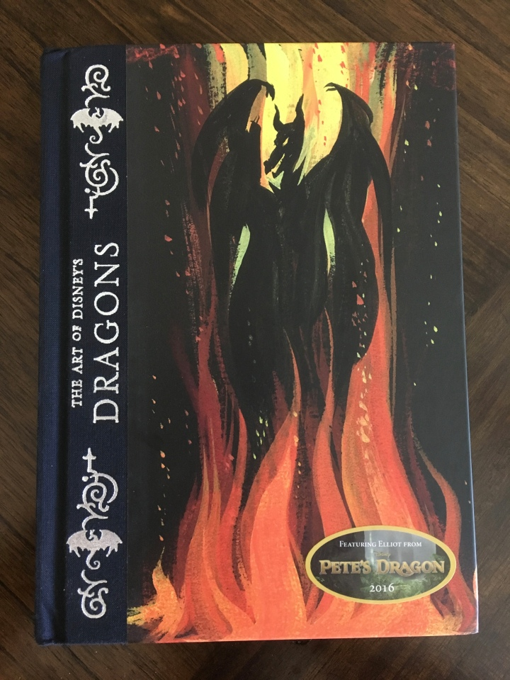 Disney Dragons features a fearsome image of Maleficent in all her black dragon glory on the cover