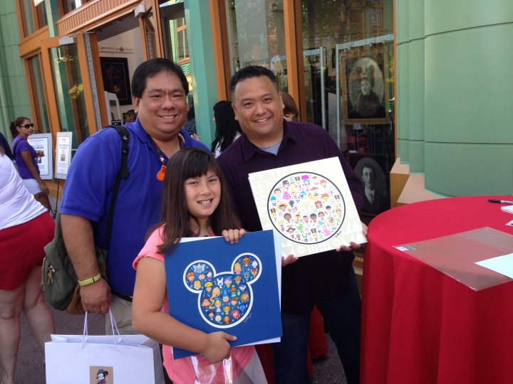 Went to get our prints signed by Jerrod Maruyama at one of his signings at WonderGround Gallery