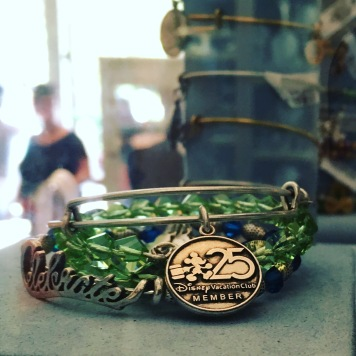 Hard to go wrong with an Alex and Ani bangle - this one celebrates 25 years of Disney Vacation Club but they have so many including a new holiday collection