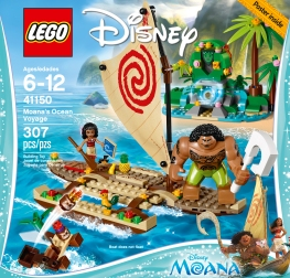 Moana's Ocean Voyage box art showcases the variety of pieces including the Kakamora