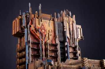 Guardians of the Galaxy Ð Mission: BREAKOUT! -- A scale model created by Walt Disney Imagineering shows the exterior of Guardians of the Galaxy Ð Mission: BREAKOUT!, a new attraction at Disney California Adventure park debuting in summer 2017. Guardians of the Galaxy Ð Mission: BREAKOUT! will take park guests through the fortress-like museum of the mysterious Collector, who is keeping his newest acquisitions, the Guardians of the Galaxy, as prisoners. Guests will board a gantry lift which launches them into a daring adventure as they join Rocket Raccoon in an attempt to set free his fellow Guardians. (Scott Brinegar/Disneyland Resort)