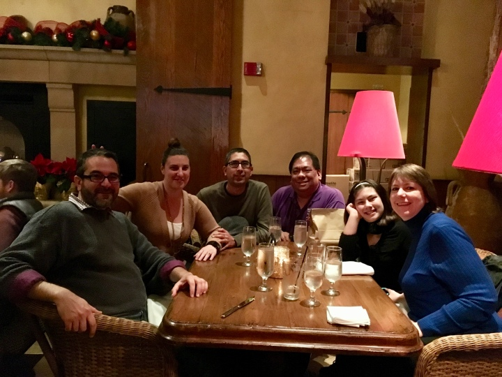 Hanging out with friends at Catal after having a delicious meal