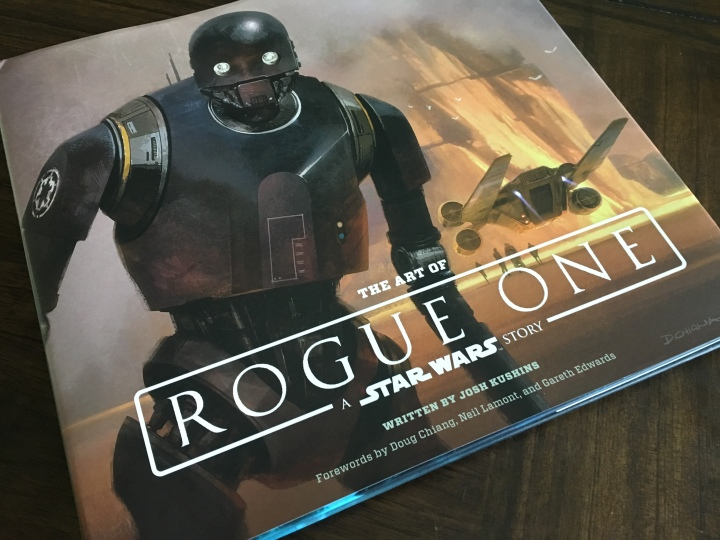 The cover for The Art of Rogue One
