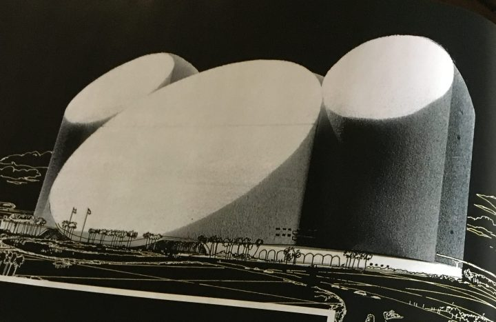 One of John's initial ideas for a Mickey Mouse hotel